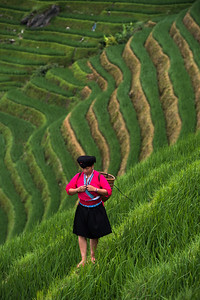Yao woman, Longhi Rice Terraces, China