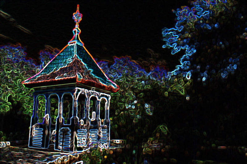 Steeple in Garden, Glowing