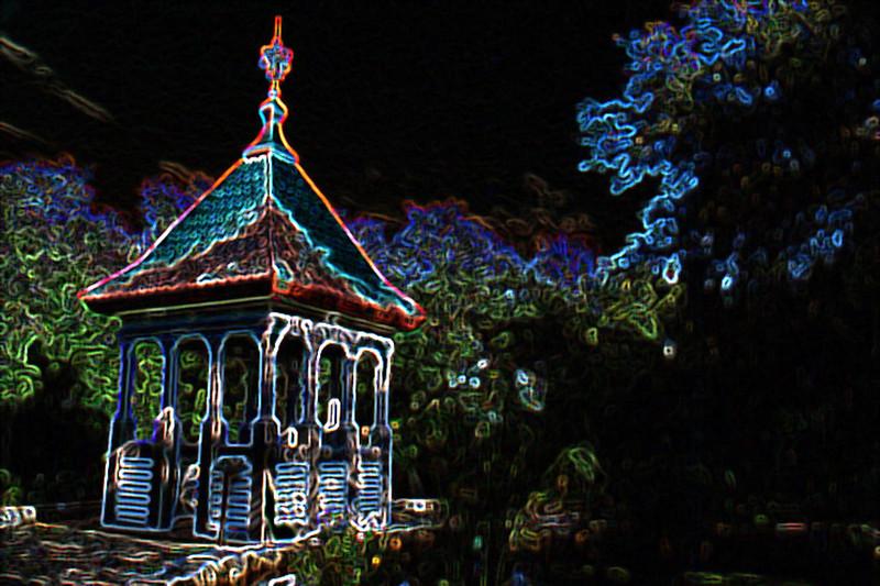 Steeple in Garden, Glowing