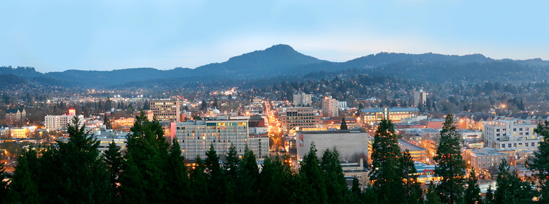 Eugene At Dusk - Pano