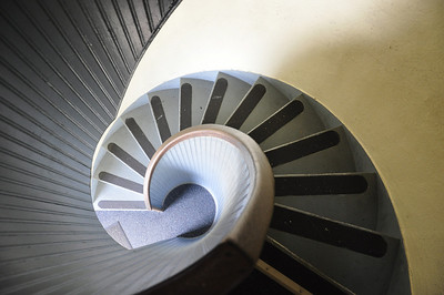 Spiral Lighthouse Stairs Down