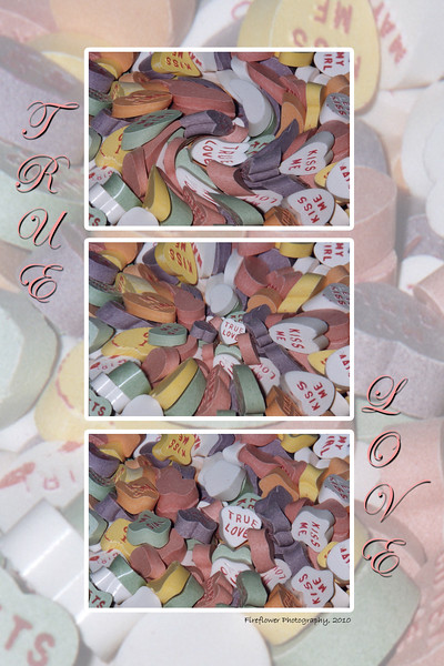 Candy Hearts Triptych