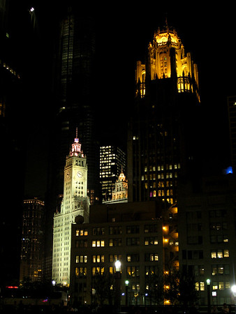 Downtown Chicago at Night a