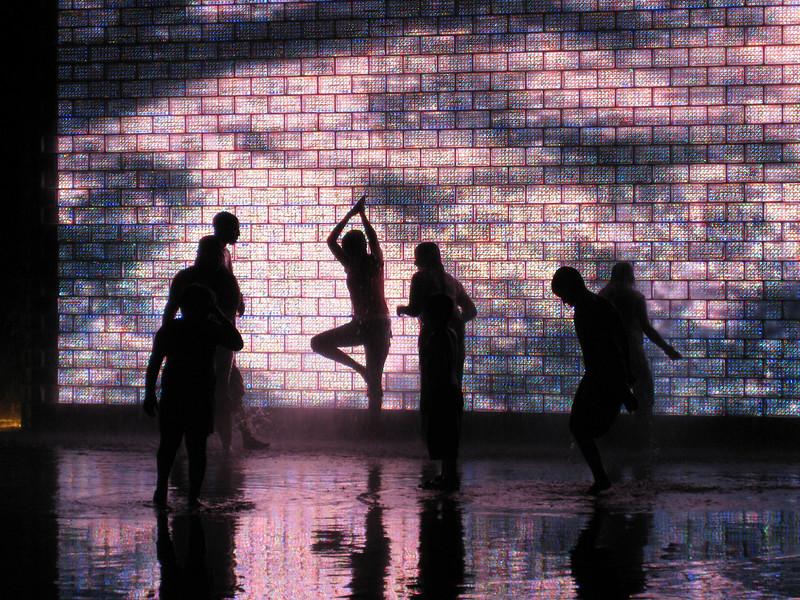 Fountain Silhouettes