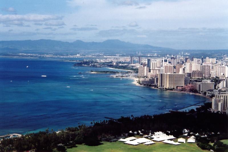 Hawaii - Waikiki Coast, view from Diamond Head 1