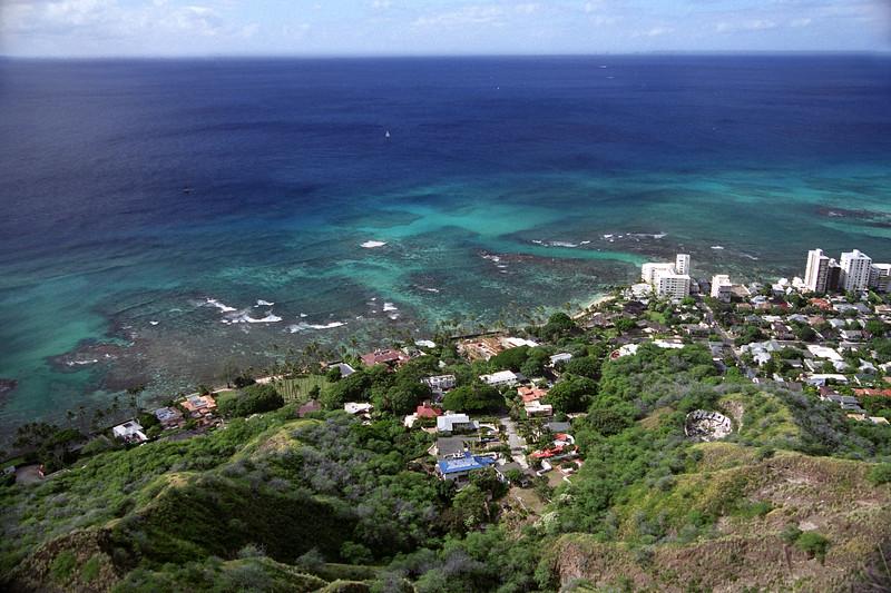 Hawaii - Waikiki Coast, view from Diamond Head 3