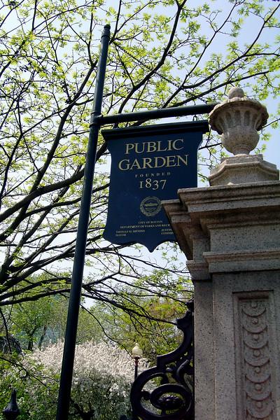 Boston - Public Garden Sign