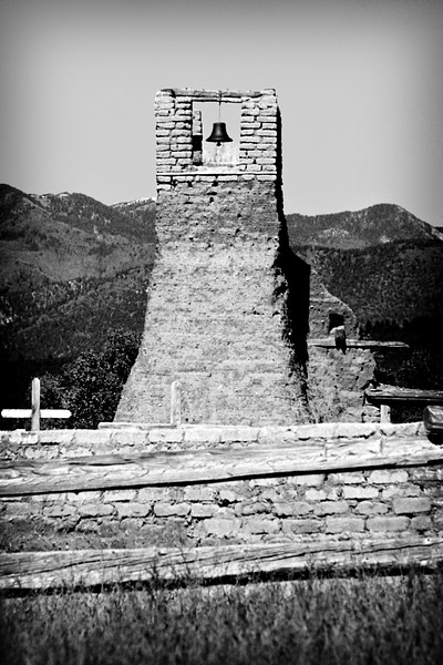 New Mexico - Taos - Bell Tower bw