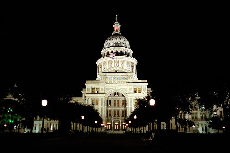 Texas - Austin - State Capitol, Night
