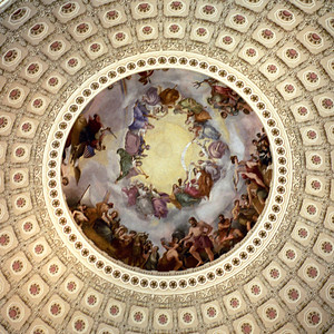Washington, D C  - Underside of the Dome