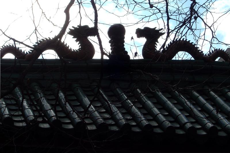 California - San Francisco - Chinatown Gate Dragons
