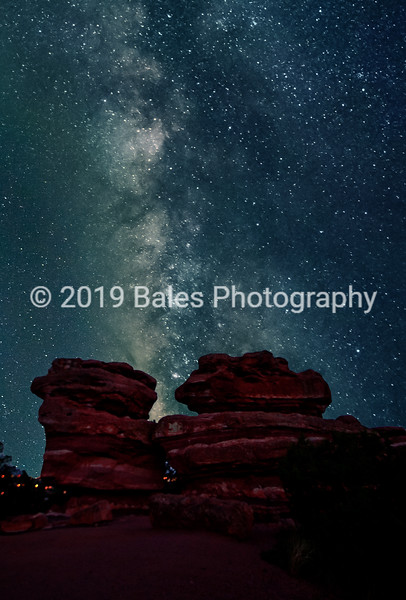 Milky way over Garden of the Gods