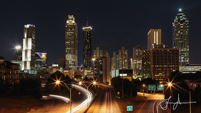 Atlanta from the Jackson Street Bride - Fine Art