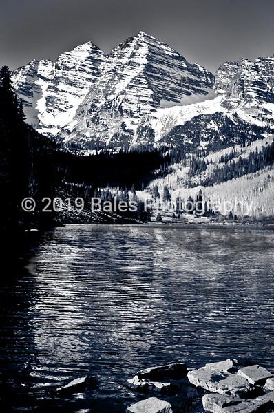 Snow-capped Maroon Bells, Aspen