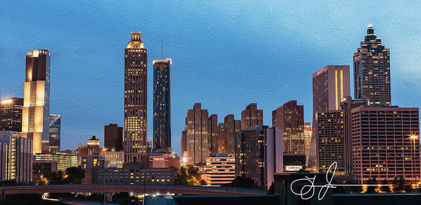 Atlanta Twilight - Fine Art