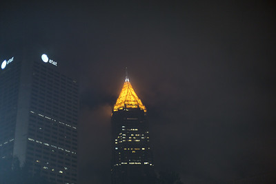 Midtown Atlanta on a Cloudy Summer Night