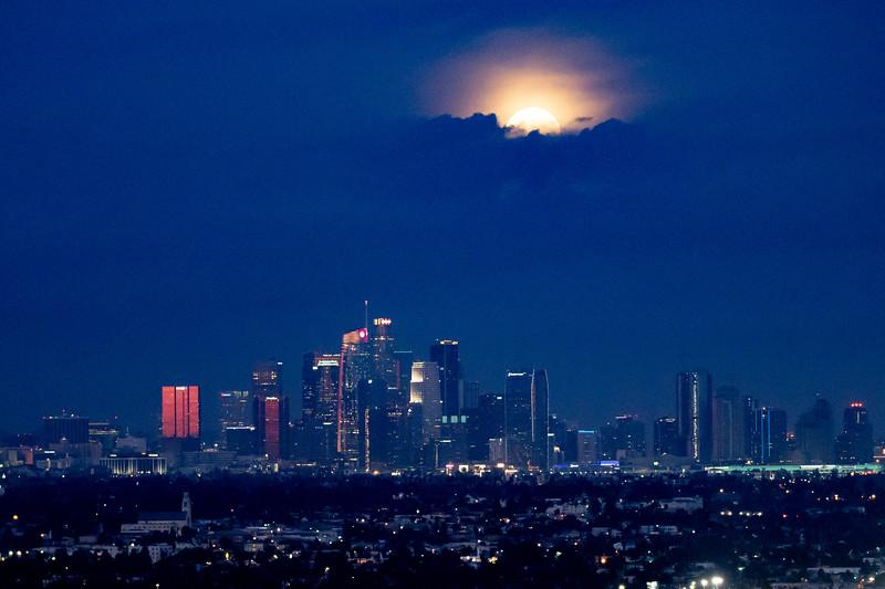 """Moon over L.A."""