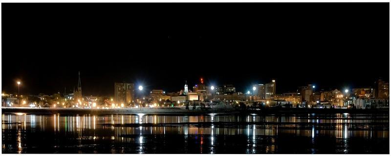 Portland, Back Bay at night