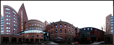 Maine Medical.  360 degree view of the courtyard.
