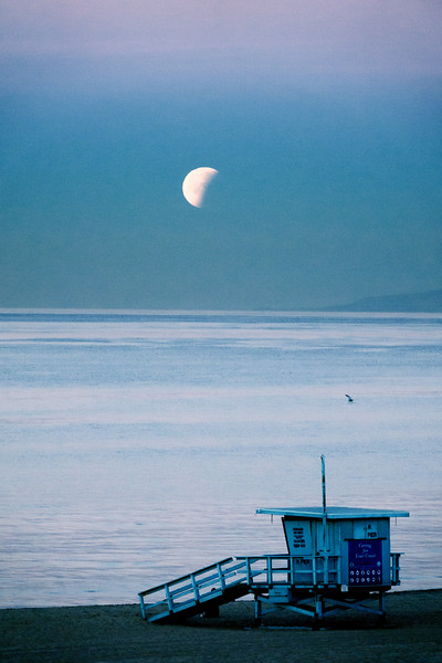 """Moon over Manhattan Beach"""