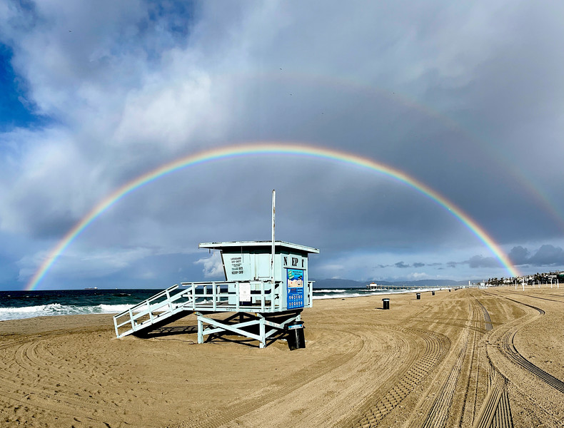 The Double Rainbow over Manhattan Beach