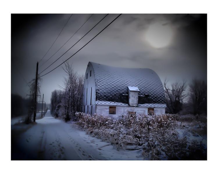 Fog and Barn