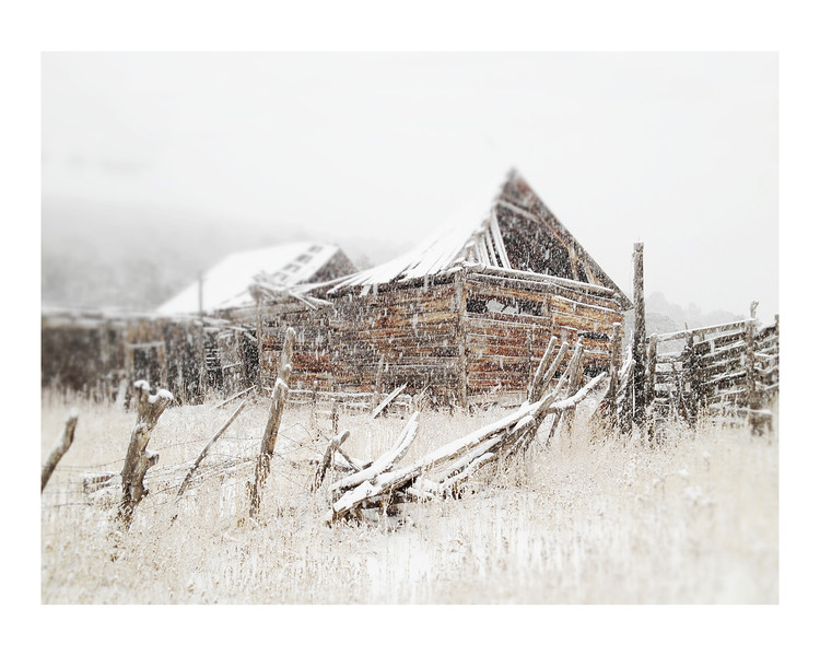 Snow and barn