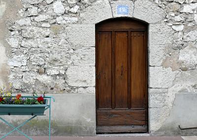 La porte et des Fleurs  (Door and Flowers)