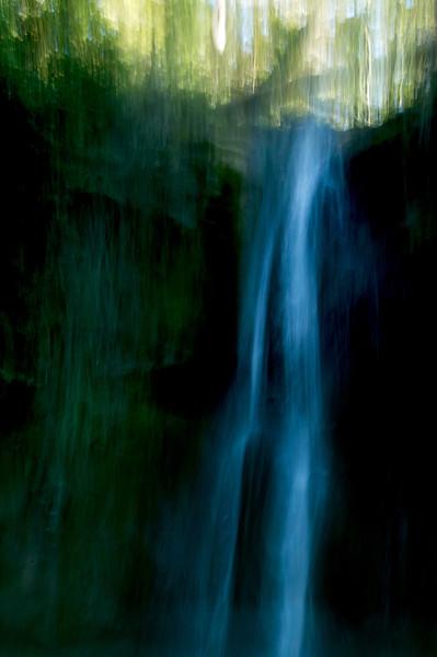 La Cascata e Alberi (Waterfall and Trees)