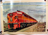 This print depicts Southern Pacific Alco Pas in ABA combination at the point of the Shasta Daylight - San Francisco - Portland.                   <br /> <br /> A series of Howard Fogg paintings and prints were commissioned by the American Locomotive Co.