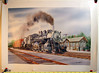 Gil Reid 1984 print of Union Pacific 2-8-0 #440 passing the North Freedom Station.