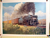 T&P #610 East of Big Spring. From a painting by John Winfield.