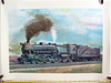 Gil Reid print of Pennsylvania Railroad #5425 K-4 class pacific-type steam locomotive.