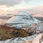 Mount Sk�lingur covered in snow.