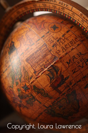 Antique Globe Bookend Detail