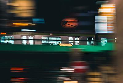 Tokyo Train On The Move