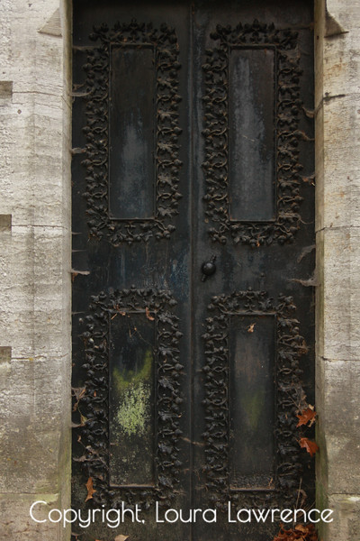 Old Gothic Metal Door