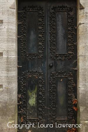 Old Gothic Metal Door