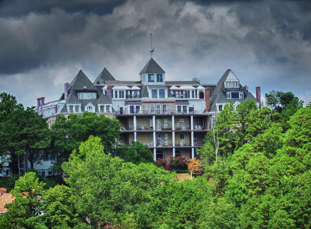The 1886 Crescent Hotel & Spa - east side of building - Eureka Springs Arkansas