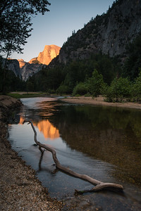 Half Dome Reflection on the Merced River