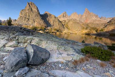 Cracked Erratic and Minaret Lake