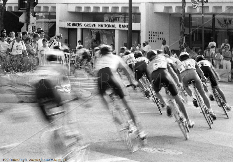 Bicycle race, Downers Grove, IL, USA