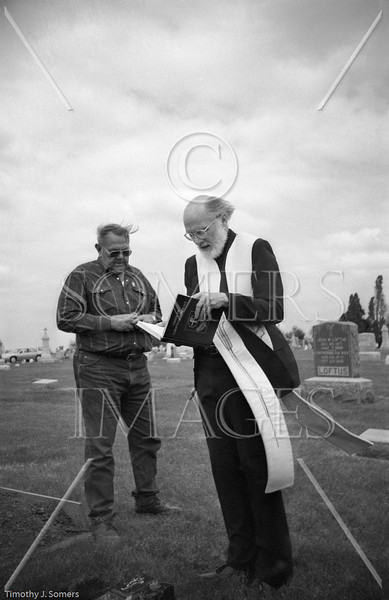 Burial service. Central Illinois 1987