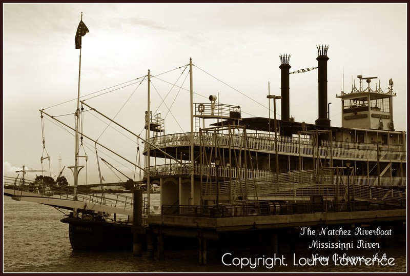 """Natchez"" Steam Riverboat, Mississippi River, New Orleans, LA"