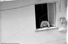Man in window, Italy