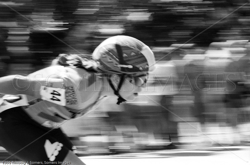 Inline speed skater, Dowers Grove, IL USA