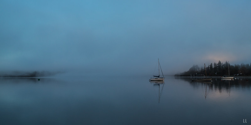 THROUGH THE FOG AT WINDERMERE