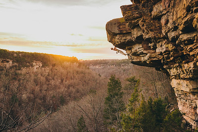"Jonathan Brandt climbing at the Toomsuba area at Little River Canyon National Preserve, Alabama. For Climbing Magazine, ""The Evolution of Canyon Man"" March 2013"
