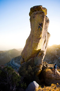 """Eric Scully warming up on a 5.9 on the Goosehead at Mount Lemmon, over Tucson, AZ. For Rock & Ice Magazine, """"The Return of Eric Scully"""""""
