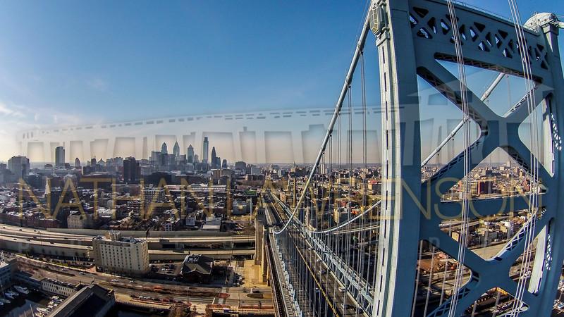 Ben Franklin & Philly Skyline 01